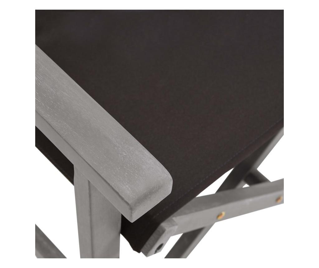 Krzesła reżyserskie, 2 szt., lite drewno akacjowe