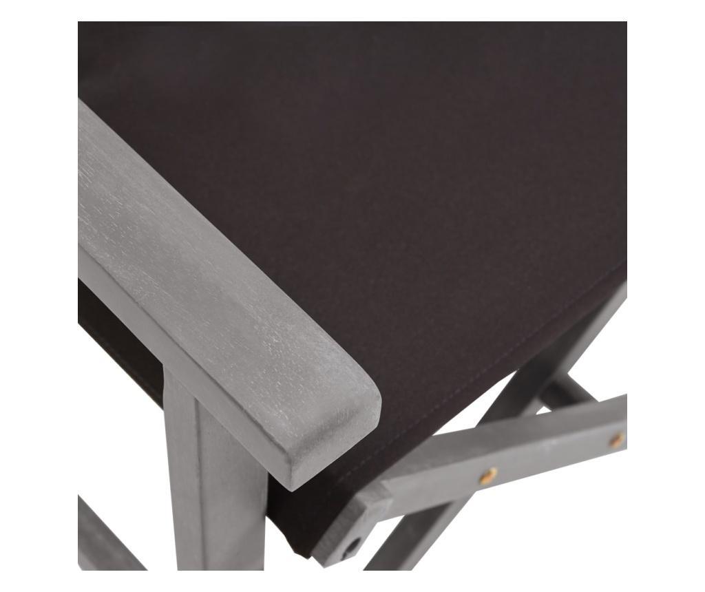 Krzesło reżyserskie, lite drewno akacjowe