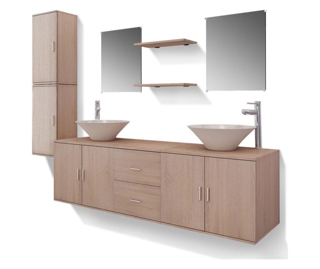 11-częściowy zestaw mebli łazienkowych ze zlewami i kranami