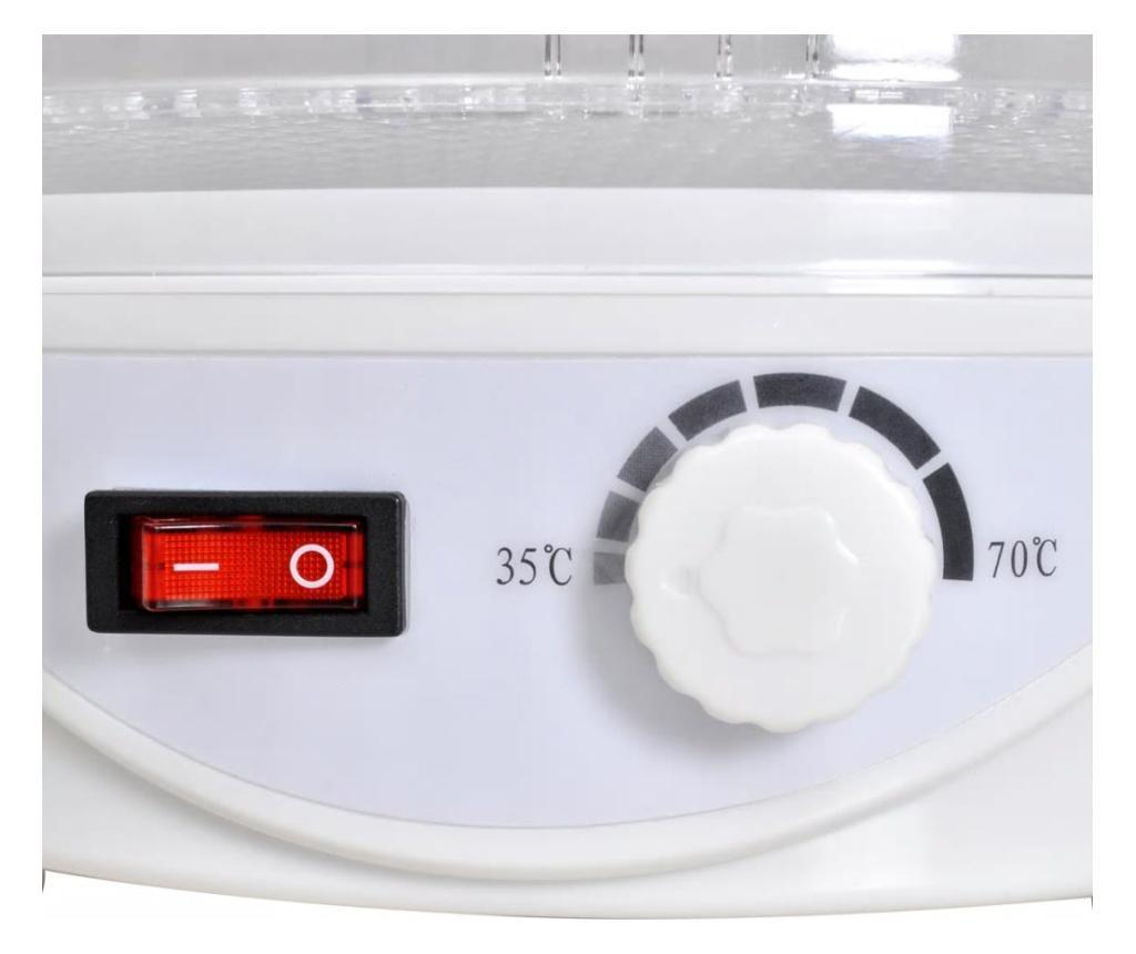 Dehidrator za sušenje hrane, 6 okruglih polica