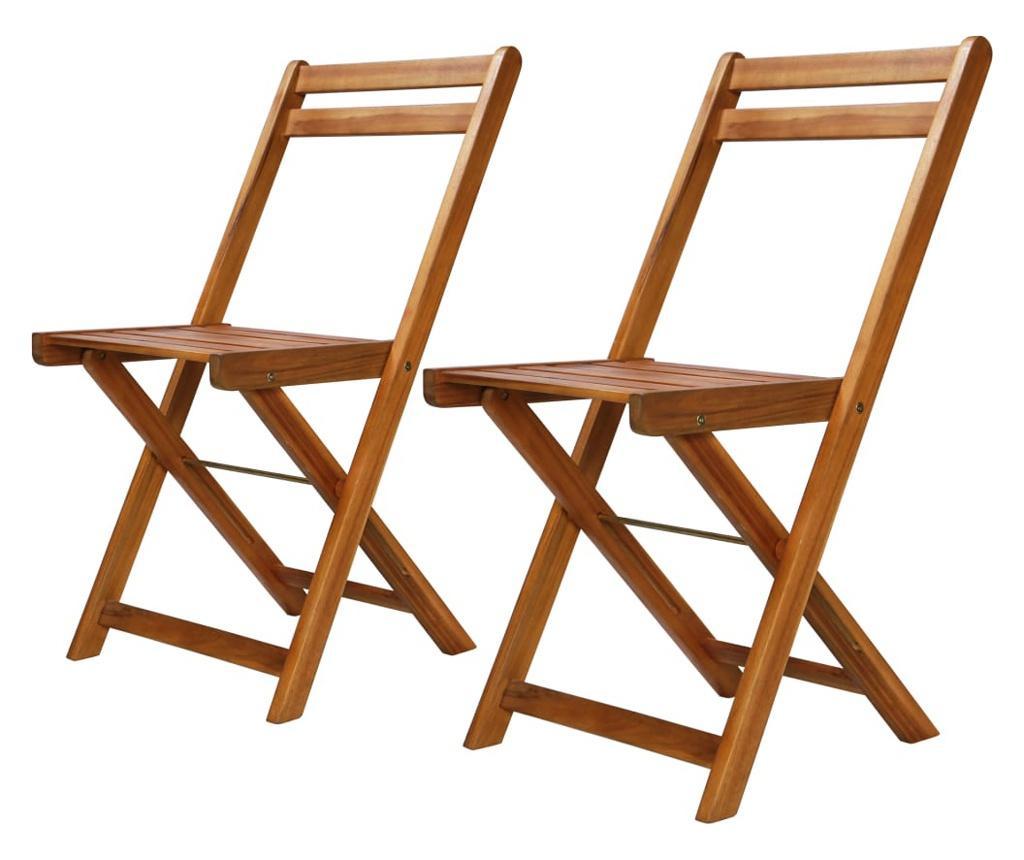 Krzesła bistro, ogrodowe, 2 szt., lite drewno akacjowe
