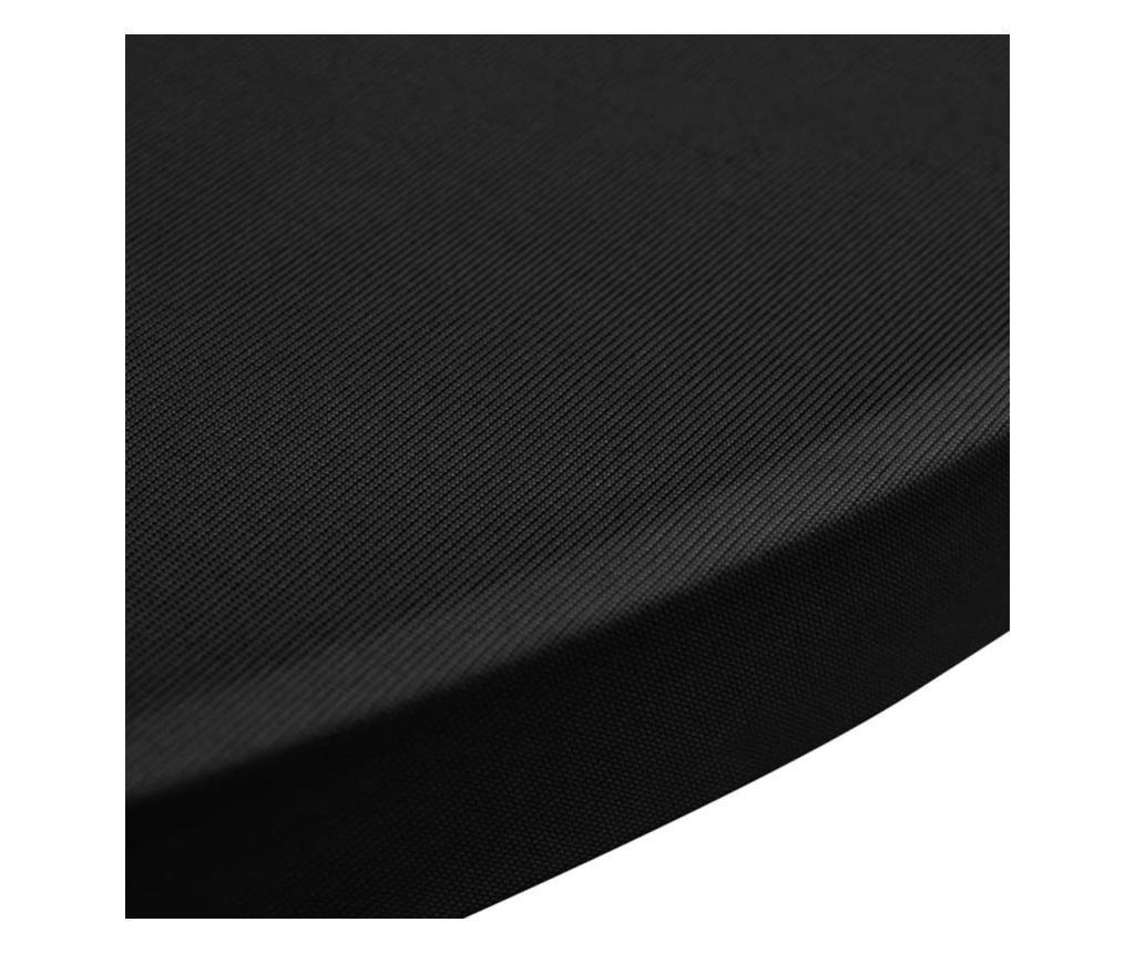 Pokrowce na stół barowy, Ø 60 cm, czarne, elastyczne, 4 szt.