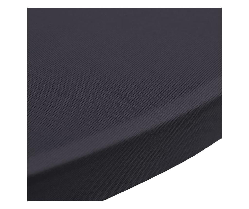 Elastyczne pokrowce na stół, 4 szt., 60 cm, antracytowe