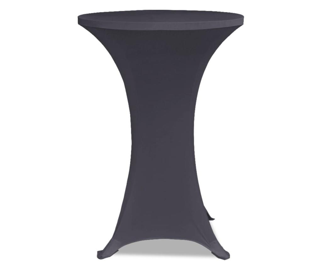 Elastyczne pokrowce na stół, 4 szt., 80 cm, antracytowe