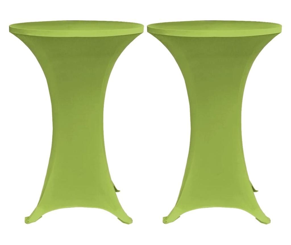 Elastyczne pokrowce na stół, 4 szt., 70 cm, zielone