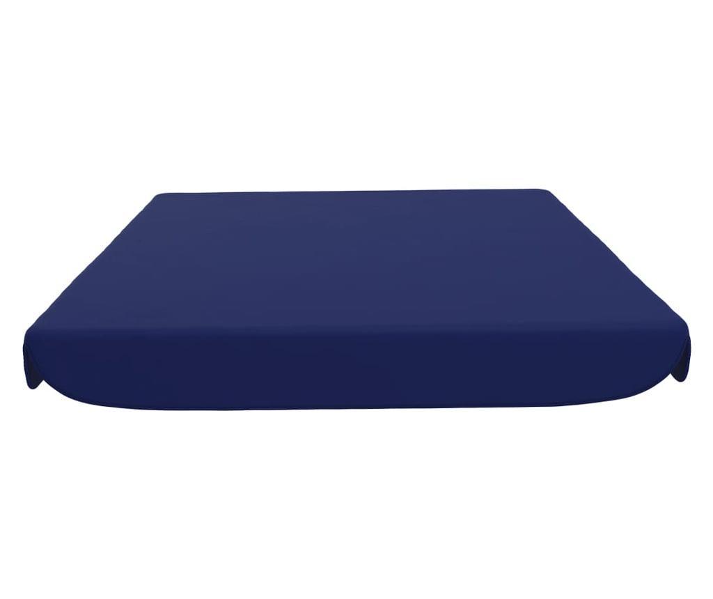 Zadaszenie do huśtawki ogrodowej, niebieskie, 192x147 cm