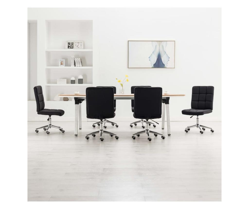 Jídelní židle 6 ks černé textil