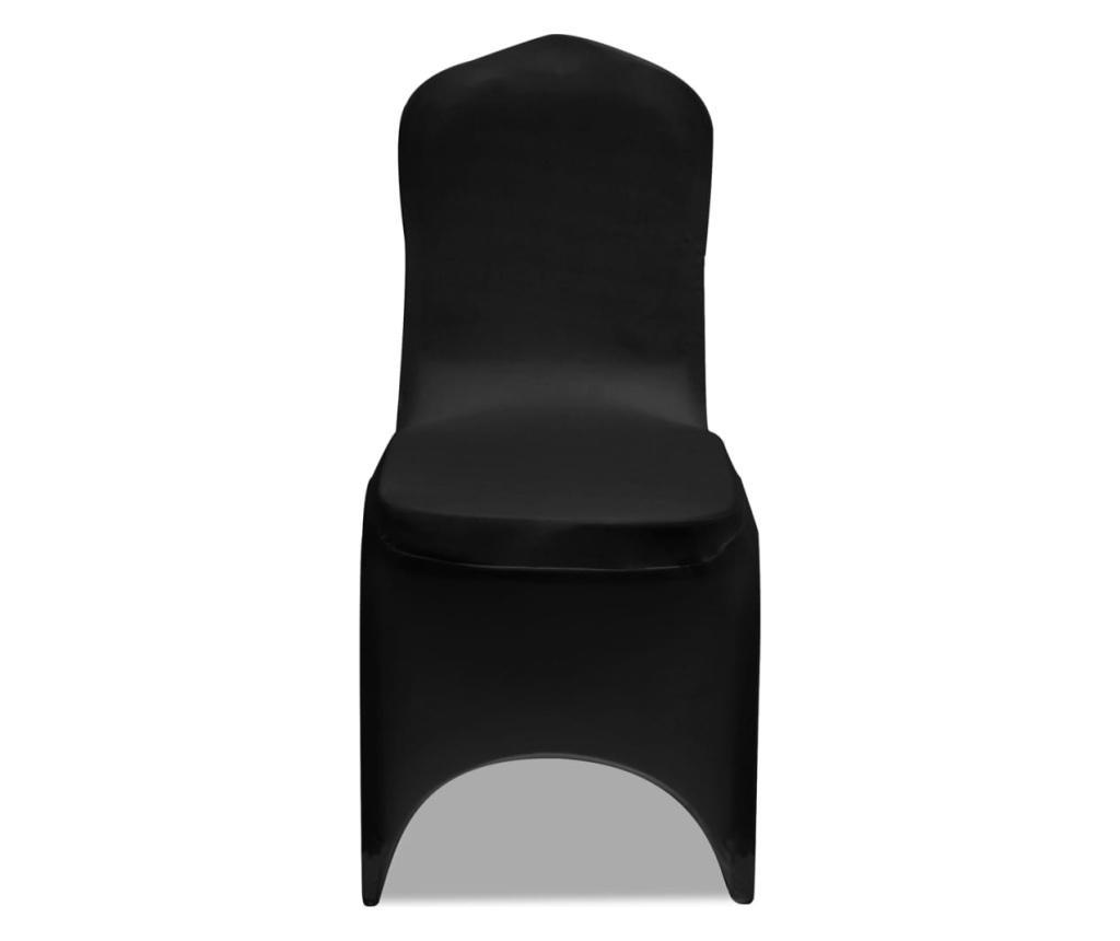Elastyczne pokrowce na krzesła, czarne, 12 szt.