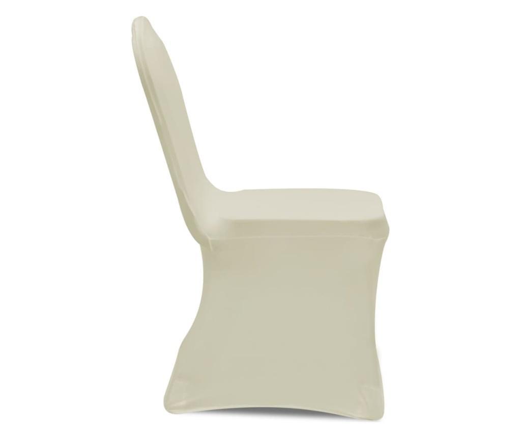 Elastyczne pokrowce na krzesła, kremowe, 12 szt.