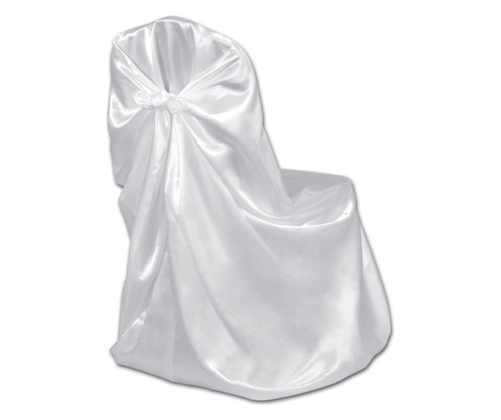 Pokrowce na krzesła weselne, 12 szt., białe