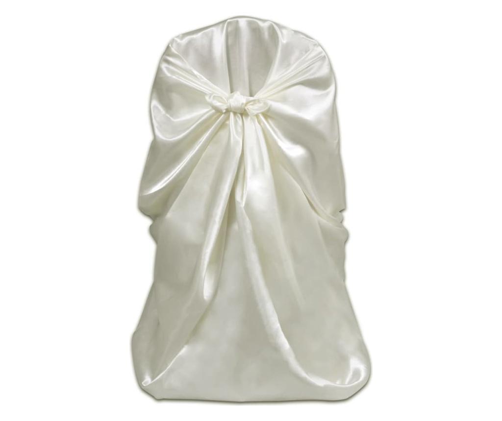 Pokrowce na krzesła weselne, 12 szt., kremowe