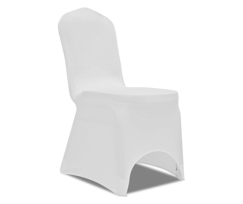 Elastyczne pokrowce na krzesła, białe, 100 szt.
