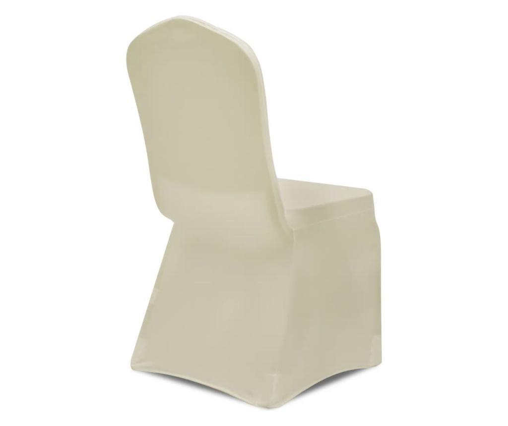 Elastyczne pokrowce na krzesła, 100 szt, kremowe, 130340x2