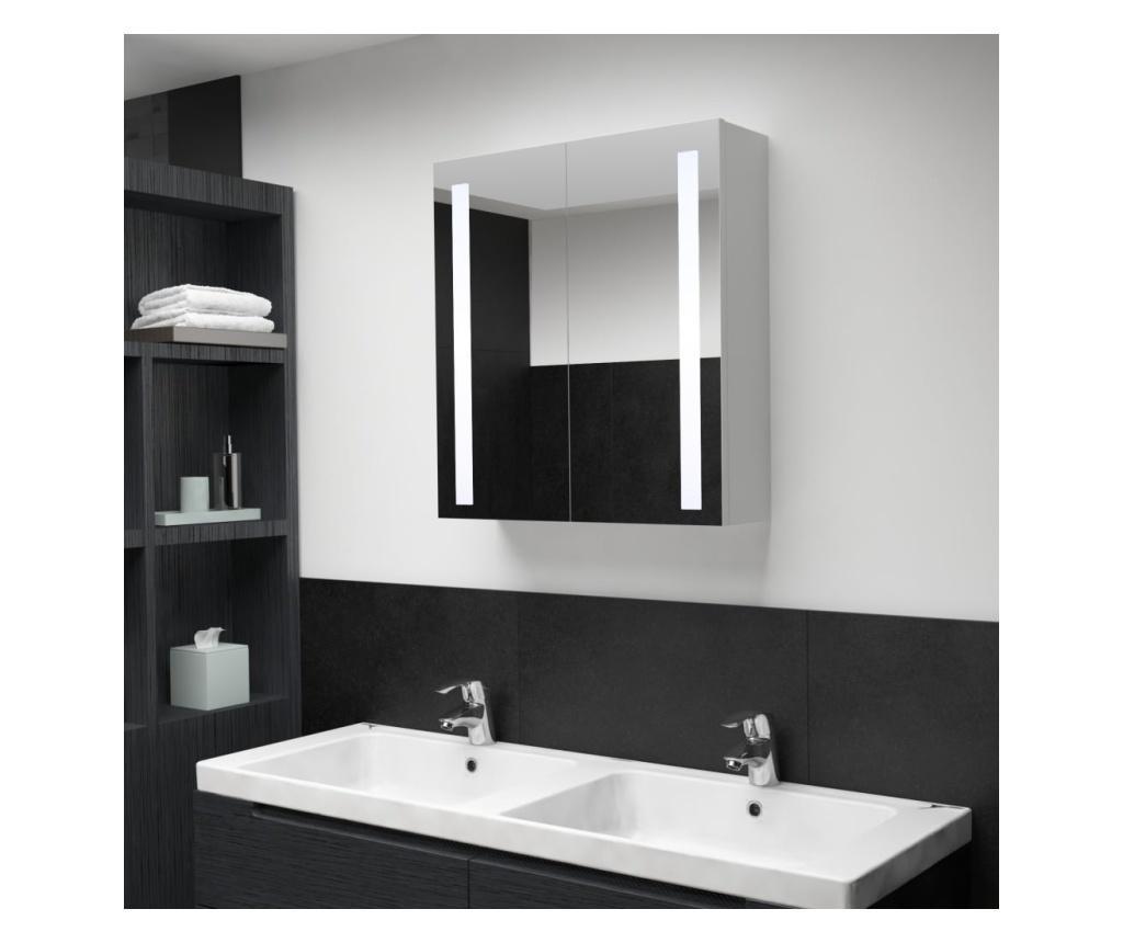 LED kupaonski ormarić s ogledalom 62 x 14 x 60 cm