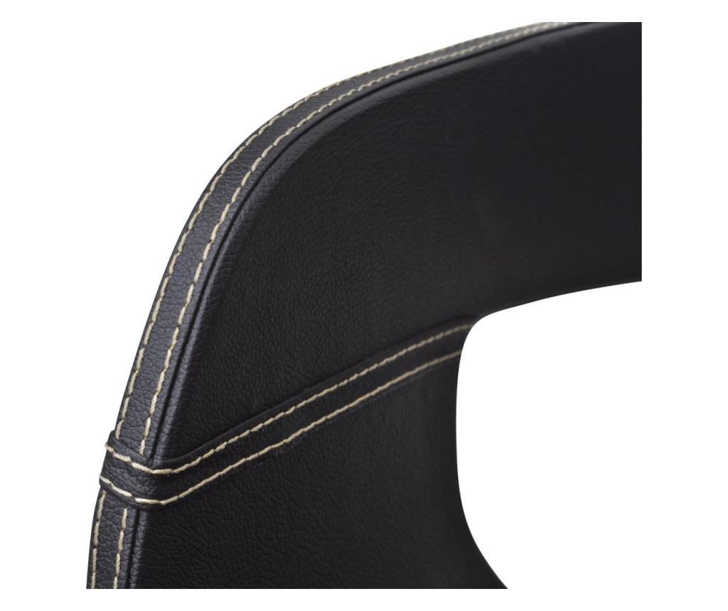 Jídelní židle 6 ks černé ohýbané dřevo a umělá kůže