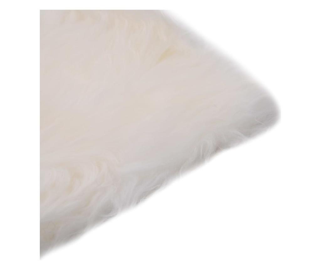 Podsedáky na židle 2 ks bílé 40 x 40 cm pravá ovčí kůže