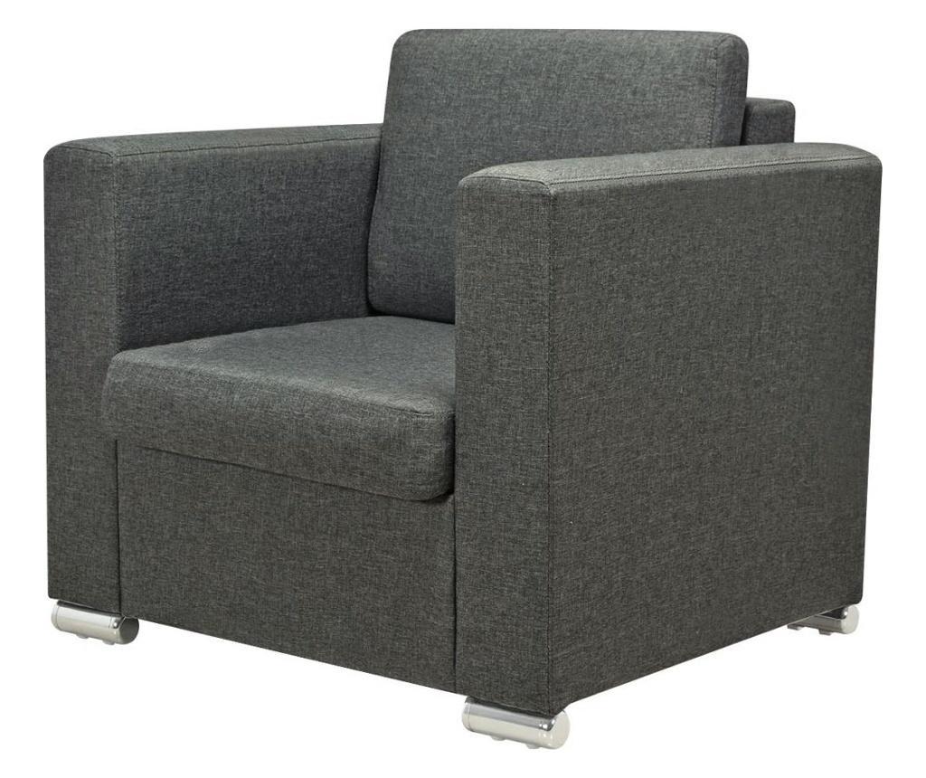 Trodijelni set sofa od tkanina tamnosivi