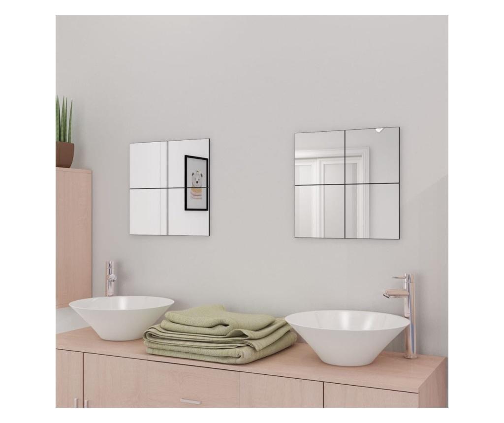 Bezramkowe płytki lustrzane, szklane, 16 szt., 20,5 cm