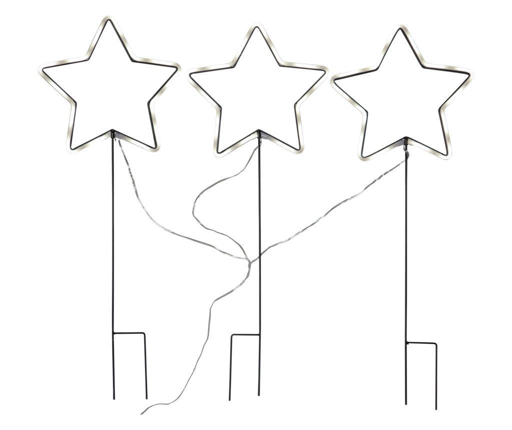 Set 3 decoratiuni cu LED-uri Neonstar
