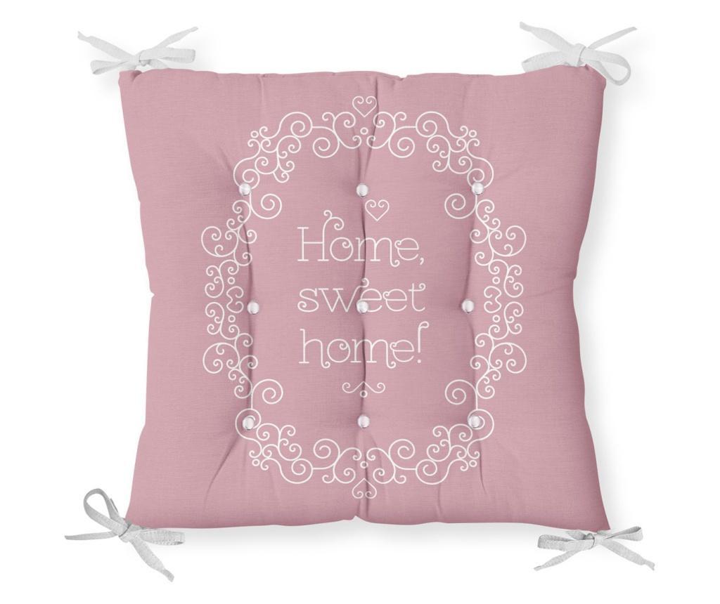 Jastuk za stolicu Minimalist Cushion Covers Pink Home Sweet Home 40x40 cm