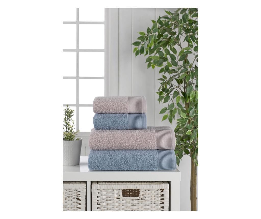 Zestaw 4 ręczników kąpielowych Mirinda