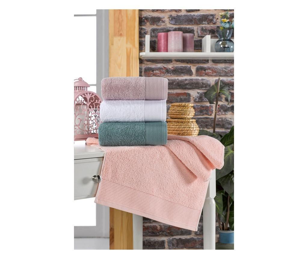 Zestaw 4 ręczników kąpielowych Mirinda 50x90 cm