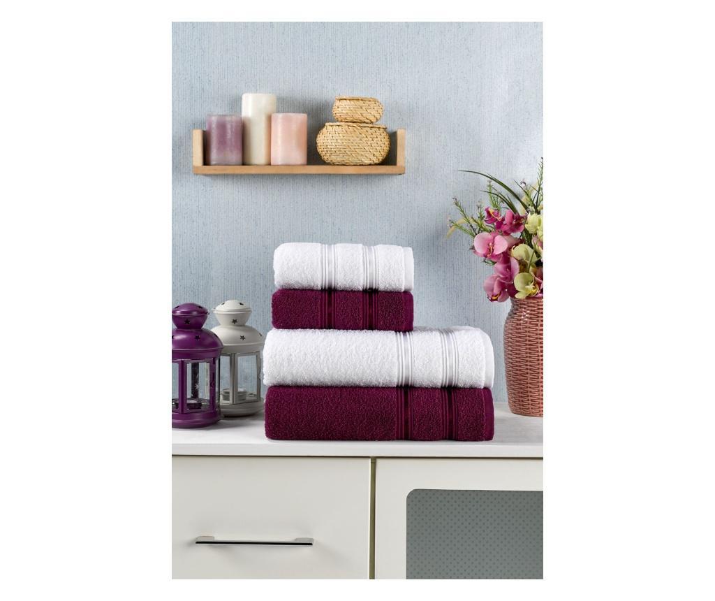 Zestaw 4 ręczników kąpielowych Sandor