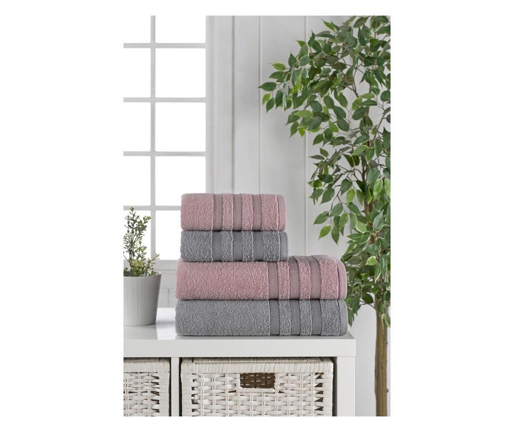 Zestaw 4 ręczników kąpielowych Oberyn