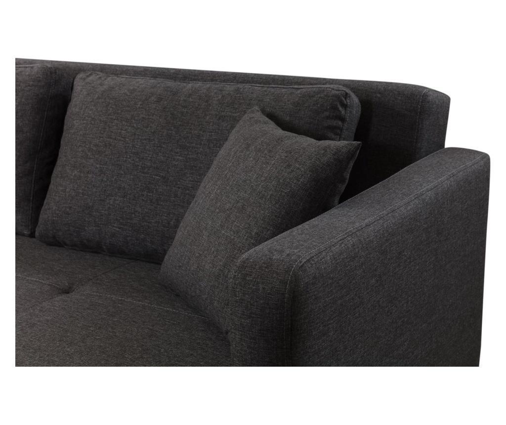 Gauge Concept Anthracite Kihúzható háromszemélyes kanapé