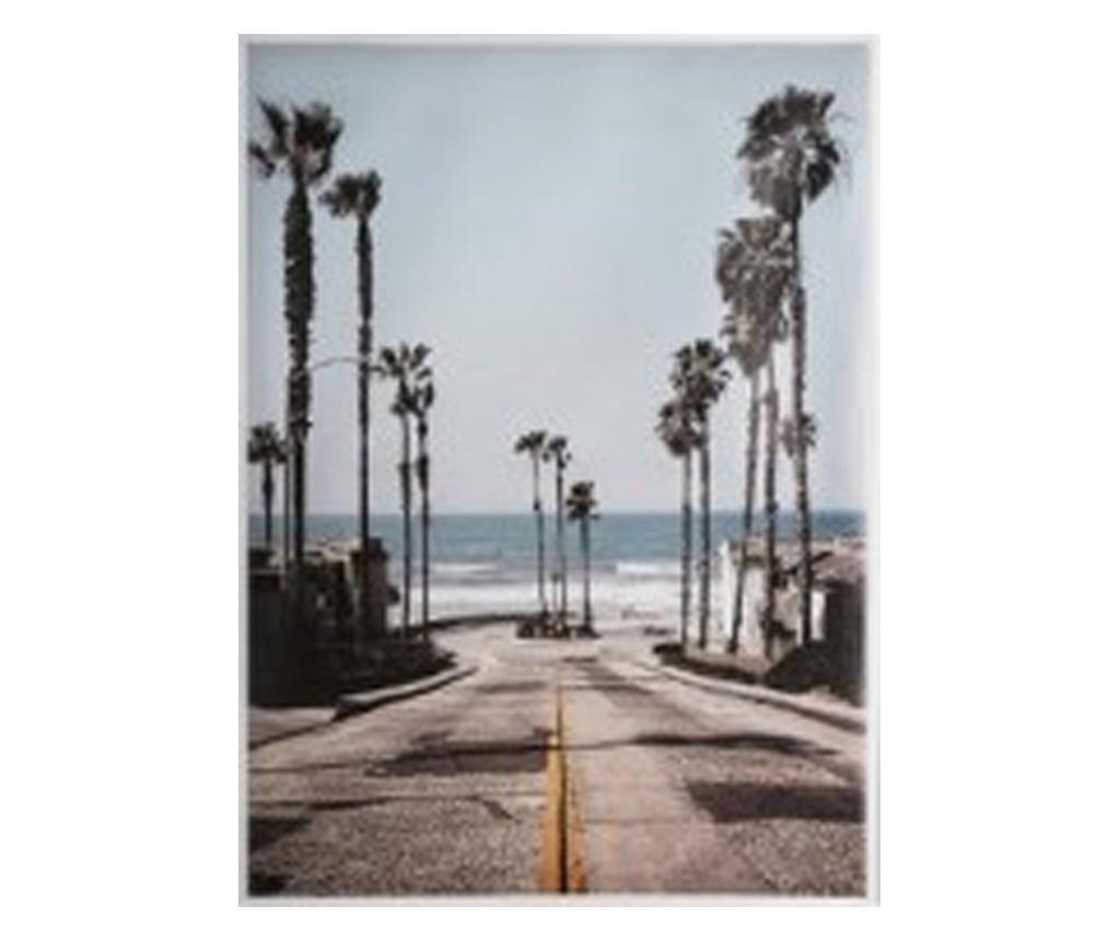 Tablou canvas Palm Street, 58x78 cm