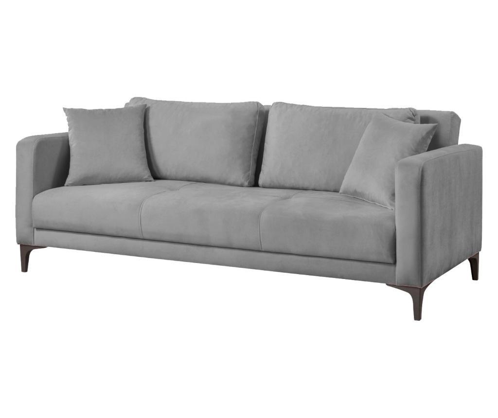 Velvet Smoked Kihúzható háromszemélyes kanapé