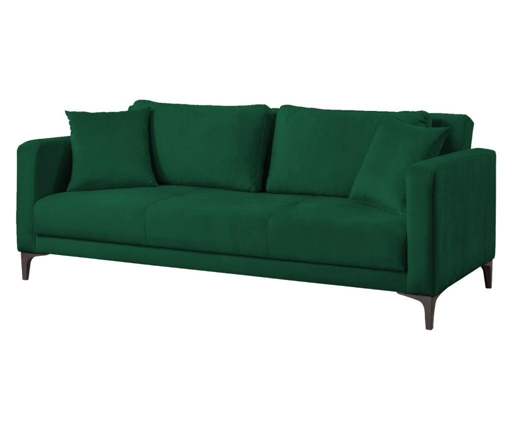 Raztegljiv trosed Velvet Dark Green
