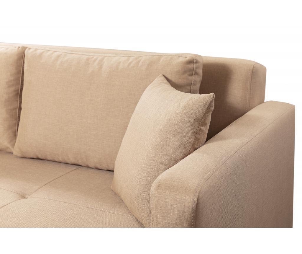 Gauge Concept Cream Kihúzható háromszemélyes kanapé