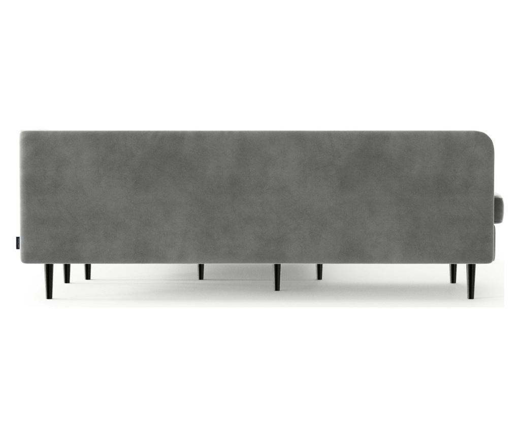 Rozkládací rohová pohovka levostranná Memphis Light Grey