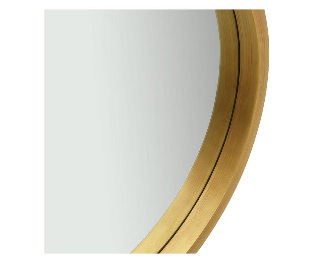 Lustro ścienne na pasku, 40 cm, złote