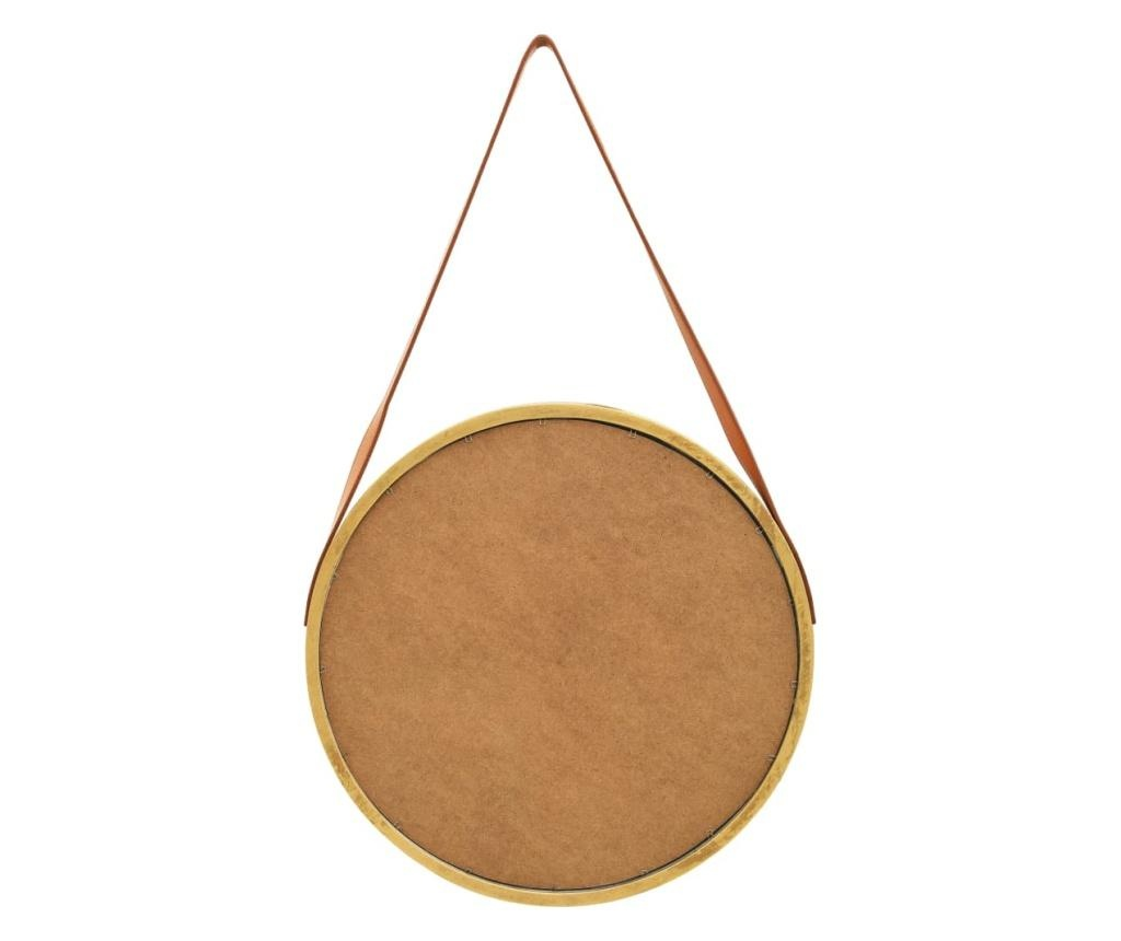 Lustro ścienne na pasku, 50 cm, złote