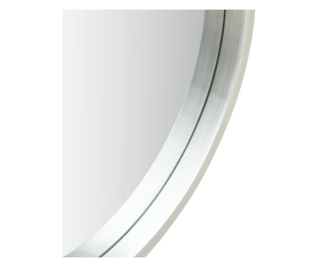 Lustro ścienne na pasku, 50 cm, srebrne