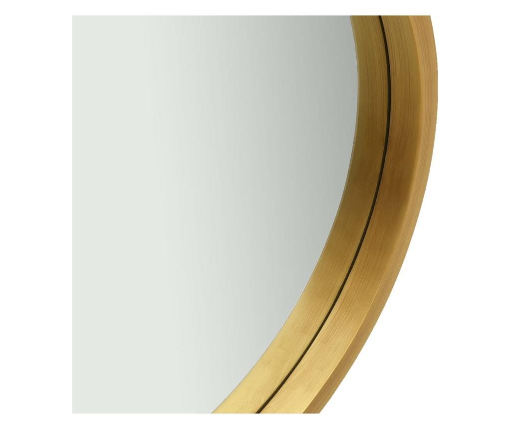 Lustro ścienne na pasku, 60 cm, złote