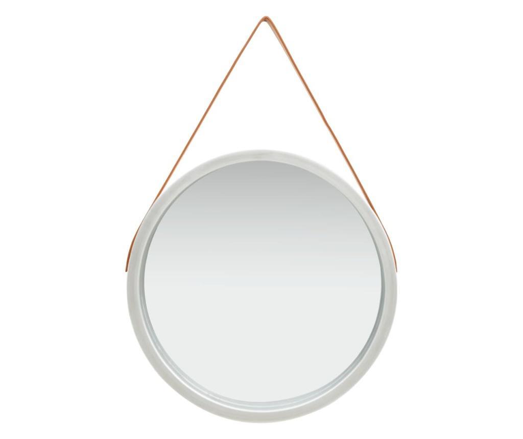 Lustro ścienne na pasku, 60 cm, srebrne