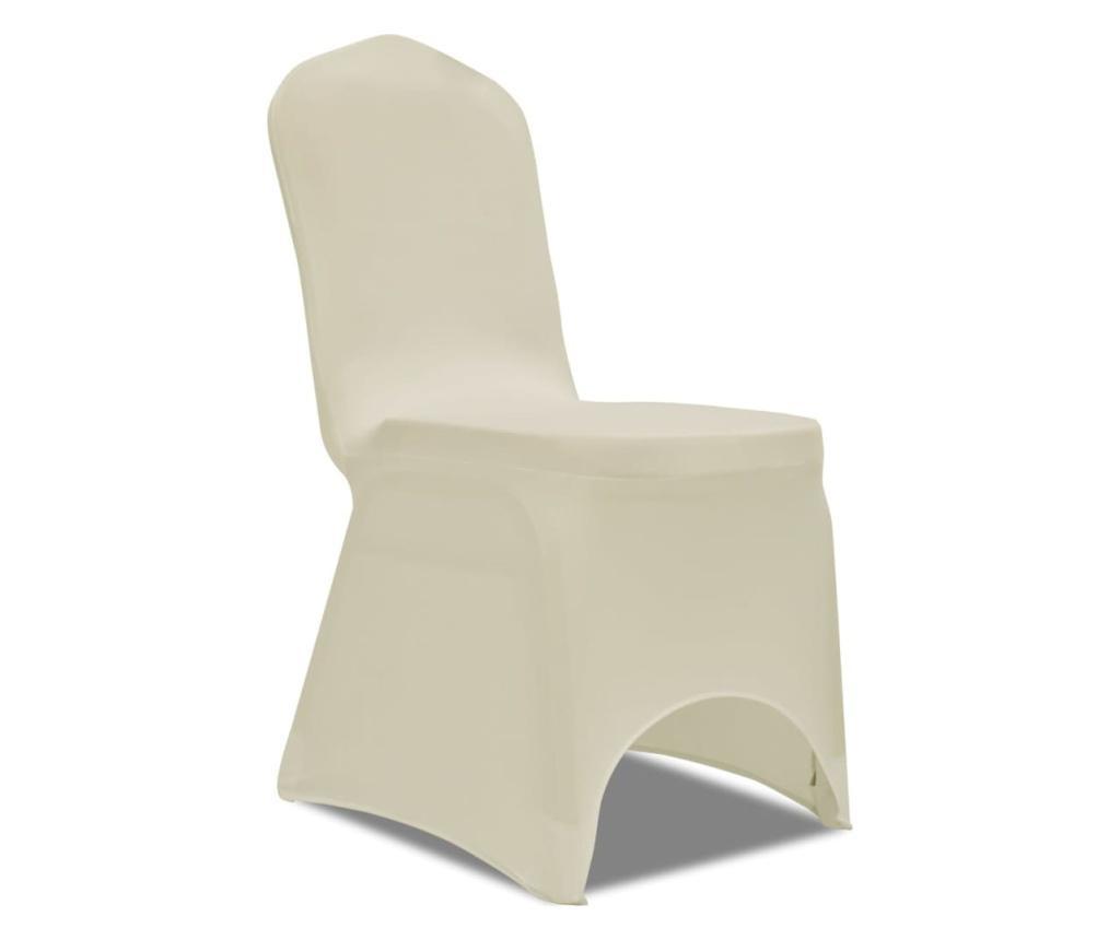 Elastyczne pokrowce na krzesła, kremowe, 24 szt.
