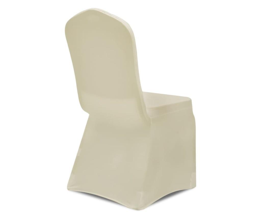 Elastyczne pokrowce na krzesła, kremowe, 30 szt.