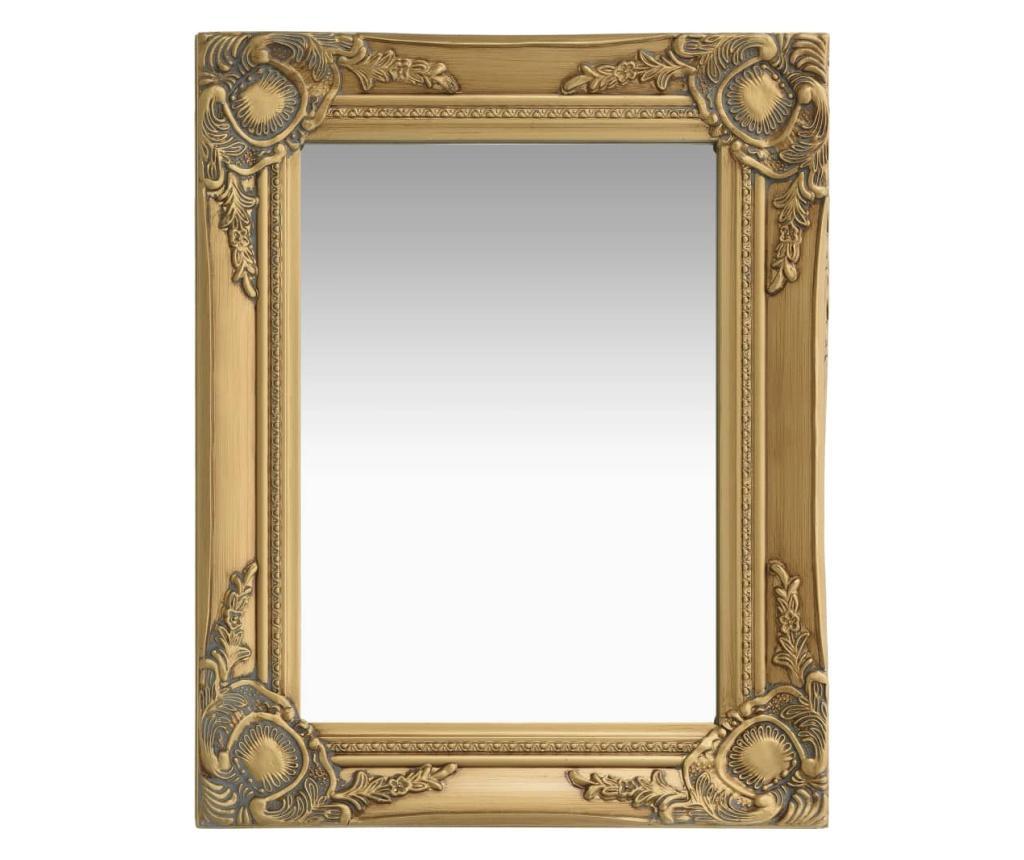 Lustro ścienne w stylu barokowym, 50x40 cm, złote