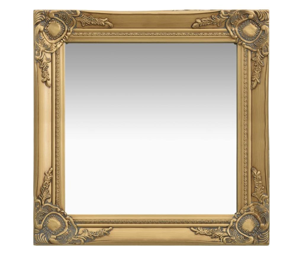 Lustro ścienne w stylu barokowym, 50x50 cm, złote