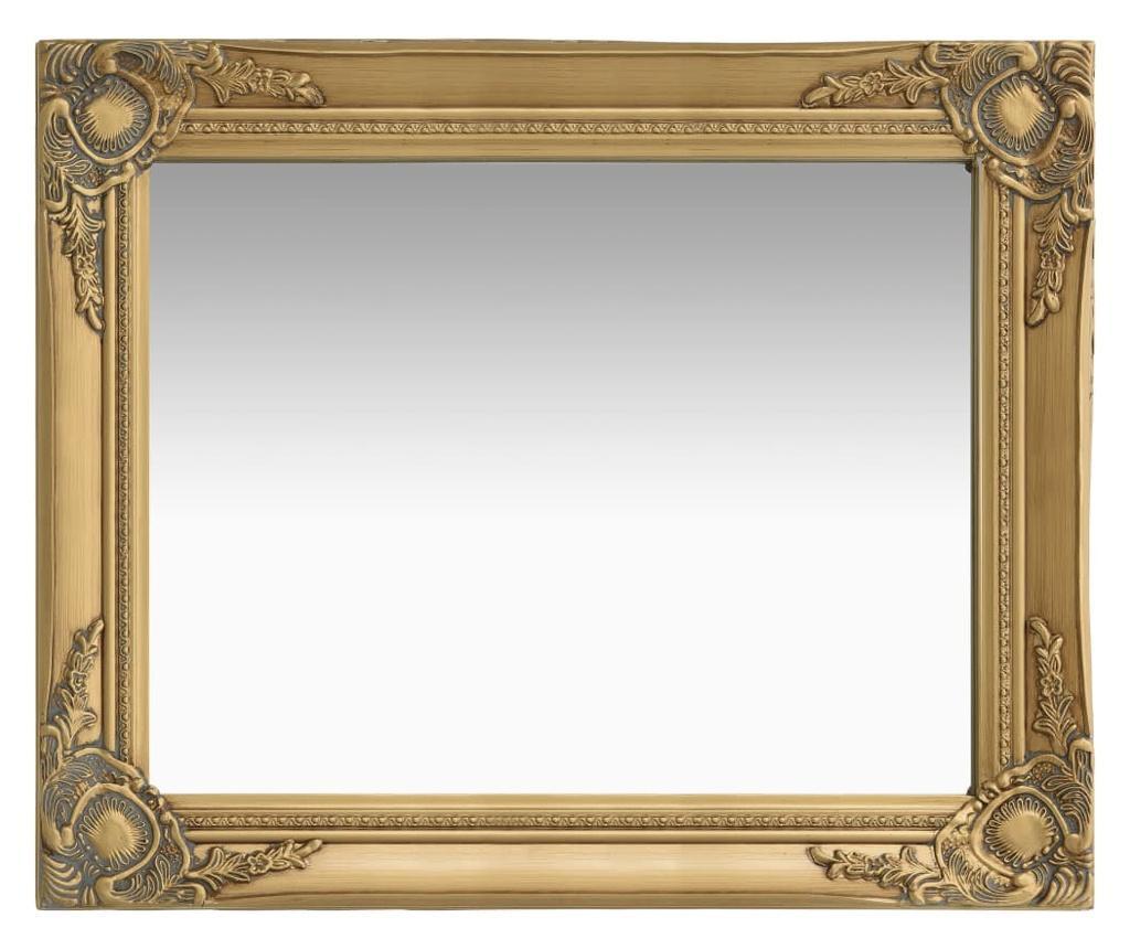 Lustro ścienne w stylu barokowym, 50x60 cm, złote