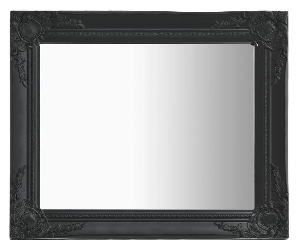Lustro ścienne w stylu barokowym, 50x60 cm, czarne