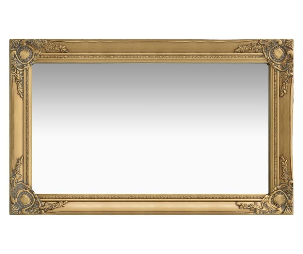 Lustro ścienne w stylu barokowym, 50x80 cm, złote