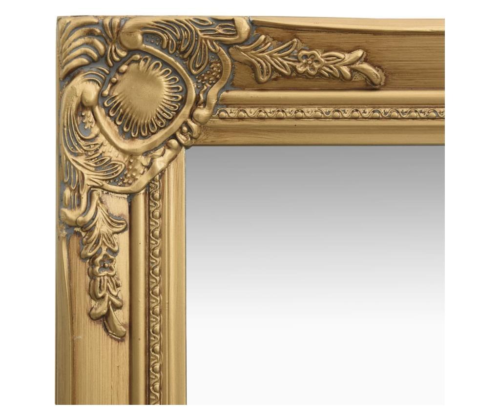 Lustro ścienne w stylu barokowym, 50x120 cm, złote