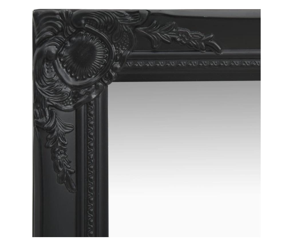 Lustro ścienne w stylu barokowym, 50x120 cm, czarne