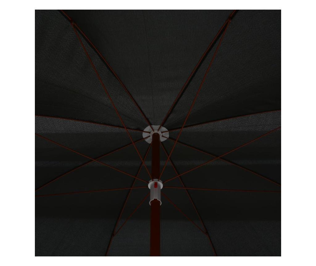 Parasol na stalowym słupku, 300 cm, antracytowy