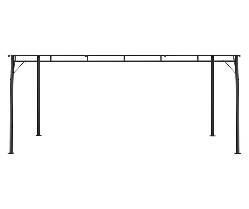 Zadaszenie ogrodowe, 4 x 3 x 2,25 m, kremowe